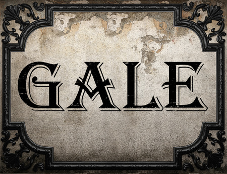 gale: gale word on concrette wall Stock Photo