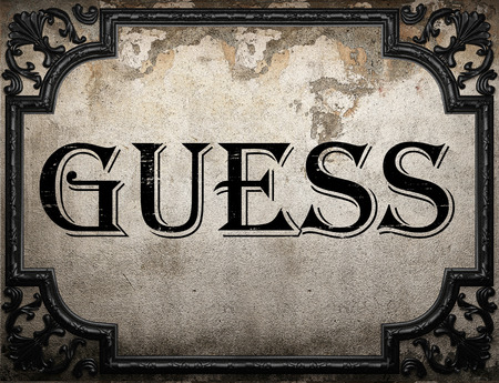 guess word on concrette wall