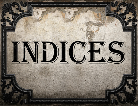 indices: indices word on concrette wall