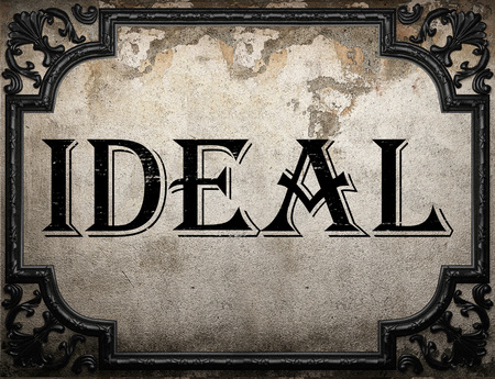 ideal: ideal word on concrette wall