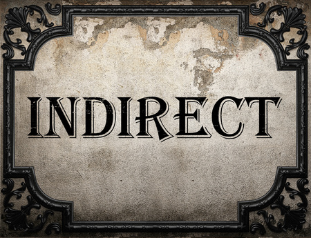 indirect: indirect word on concrette wall