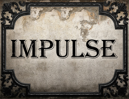 impulse: impulse word on concrette wall Stock Photo