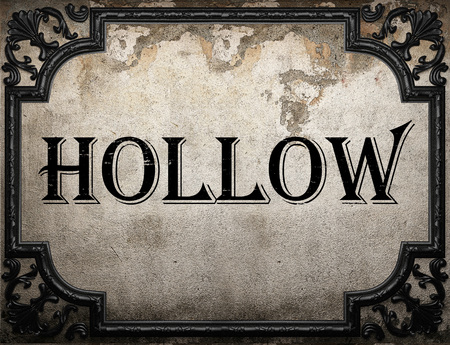 hollow wall: hollow word on concrette wall