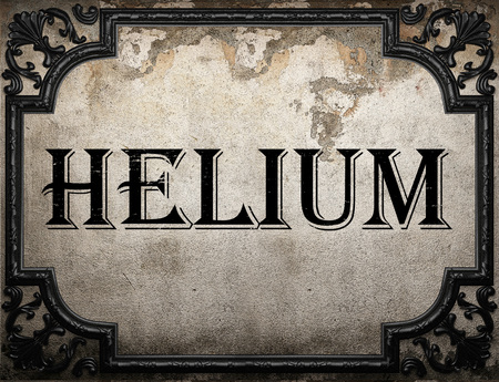 helium: helium word on concrette wall