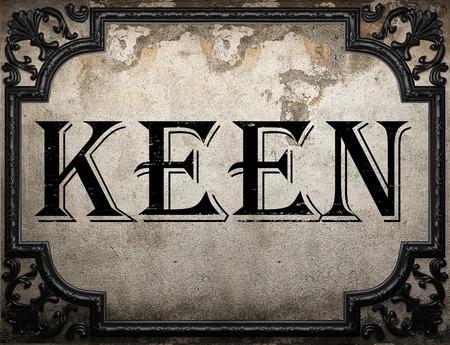keen: keen word on concrette wall