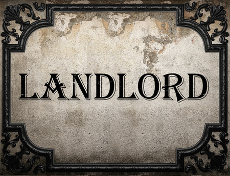landlord: landlord word on concrette wall