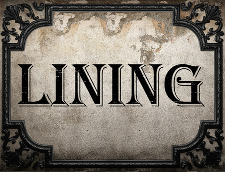 lining: lining word on concrette wall