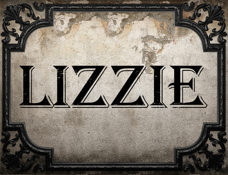 lizzie: lizzie word on concrette wall Stock Photo