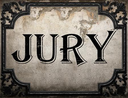 jurado: palabra jurado en la pared concrette