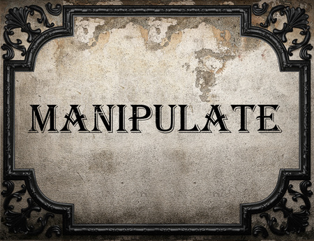 manipulate: manipulate word on concrette wall