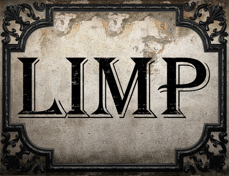 limp: limp word on concrette wall