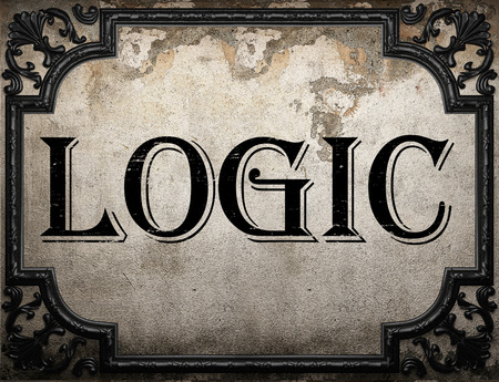 logic: logic word on concrette wall