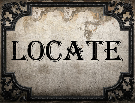 locate: locate word on concrette wall