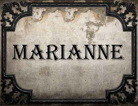 marianne: Marianne word on concrette wall Stock Photo
