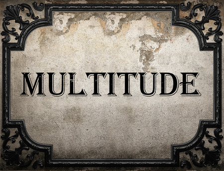 multitude: multitude word on concrette wall Stock Photo