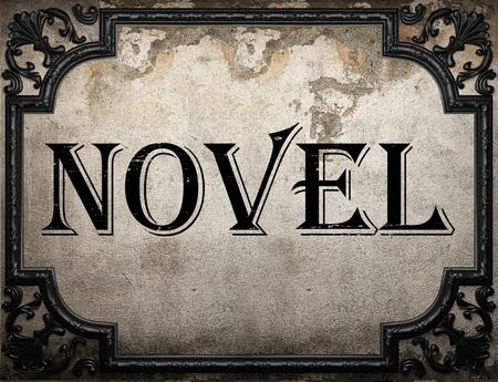 novel: novel word on concrette wall Stock Photo