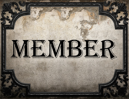 member word on concrette wall