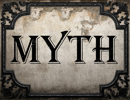 myth word on concrette wall