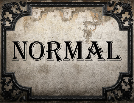 normal: normal word on concrette wall