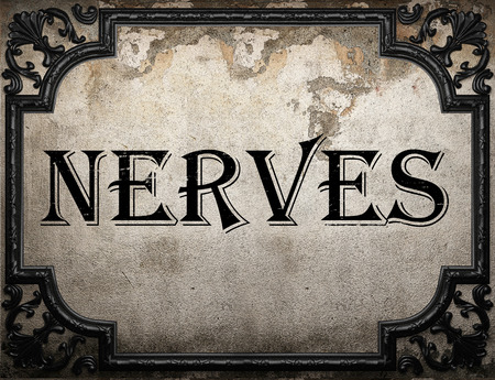 nervios: nerves word on concrette wall