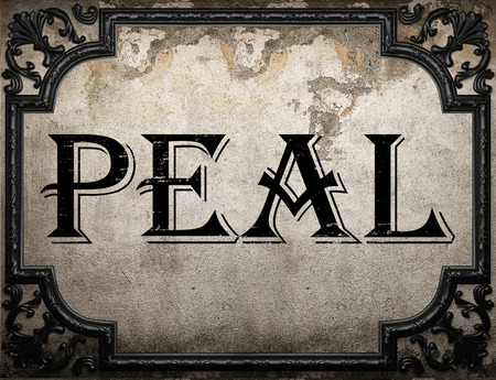 peal: peal word on concrette wall