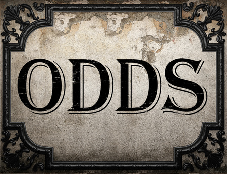 odds: odds word on concrette wall