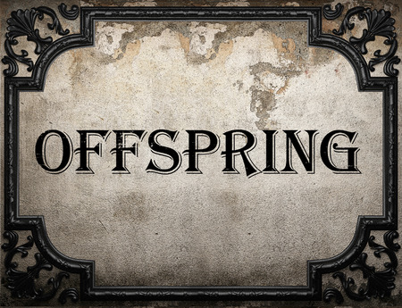 the offspring: offspring word on concrette wall