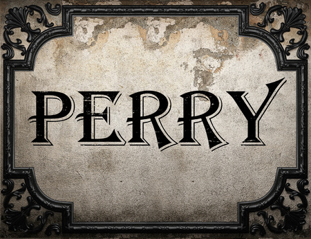 perry: perry word on concrette wall Stock Photo