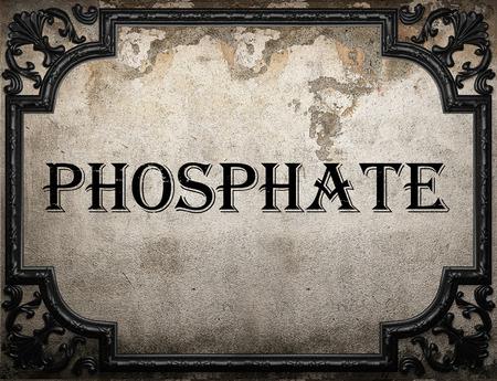 phosphate: phosphate word on concrette wall