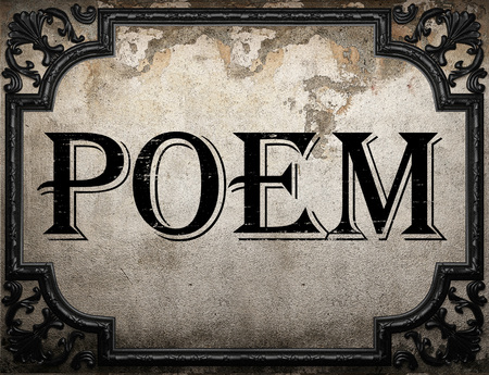 poem: poem word on concrette wall