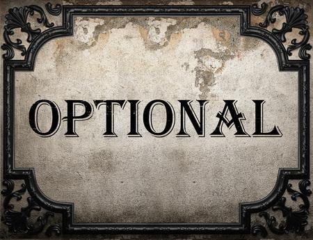 optional: optional word on concrette wall