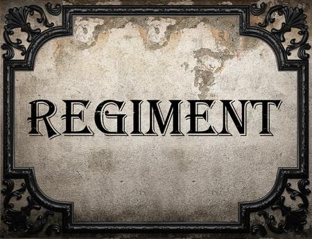 regiment: regiment word on concrette wall