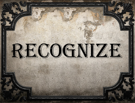 recognize: recognize word on concrette wall