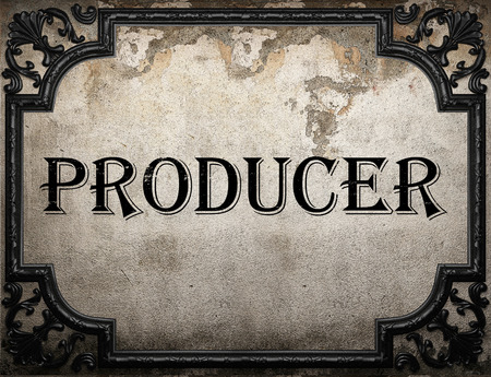 producer: producer word on concrette wall