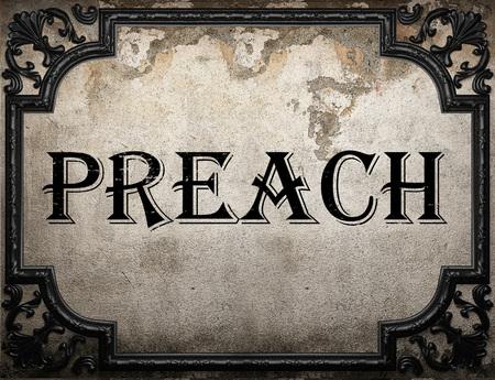 preach: preach word on concrette wall