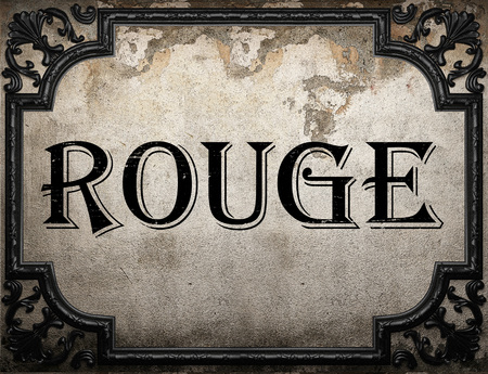 rouge: rouge word on concrette wall