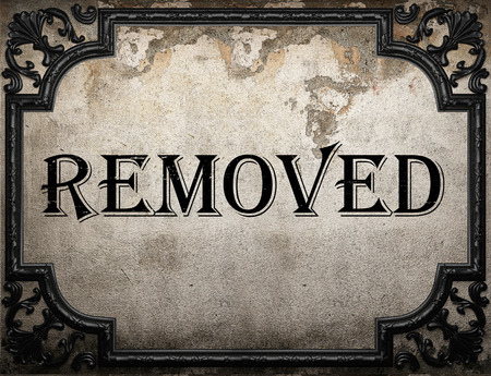removed: removed word on concrette wall