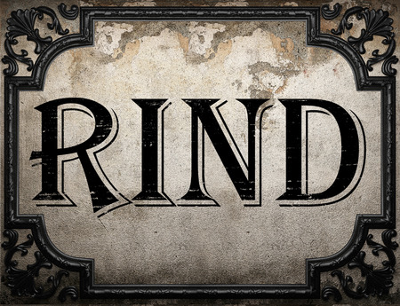 rind: rind word on concrette wall