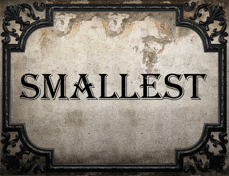 smallest: smallest word on concrette wall
