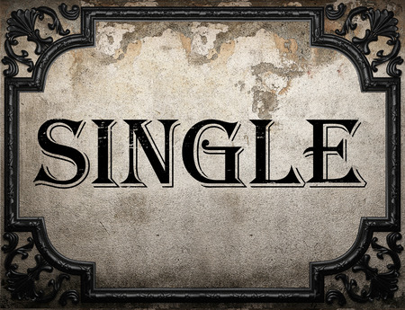 single word: single word on concrette wall