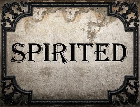 spirited: spirited word on concrette wall