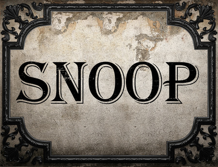 snoop: snoop word on concrette wall