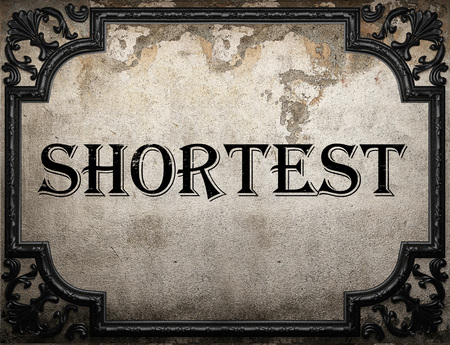 shortest: shortest word on concrette wall