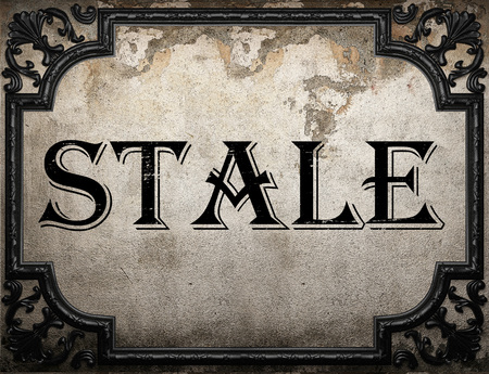 stale: stale word on concrette wall
