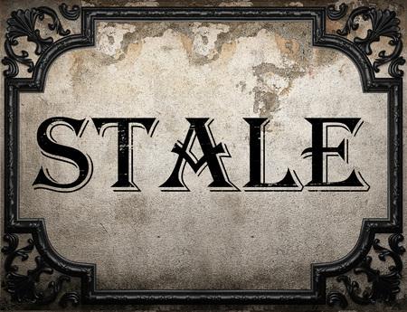 stale: stale word on concrette wall