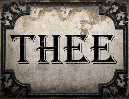 thee: thee word on concrette wall