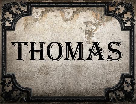 thomas: Thomas word on concrete wall Stock Photo