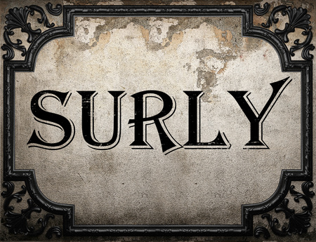 surly: surly word on concrete wall