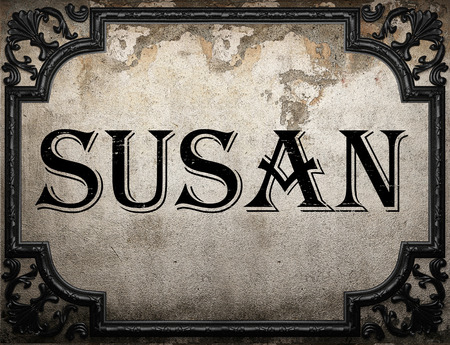 susan: susan word on concrete wall Stock Photo