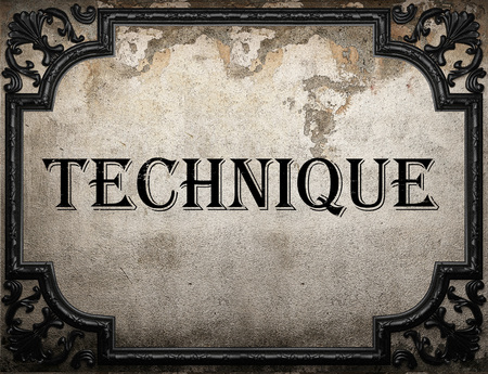 palabra técnica en la pared de hormigón